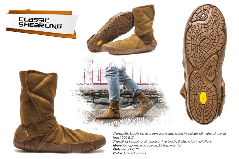 Furoshiki Boots Winter - Classic Shearling - camel brown