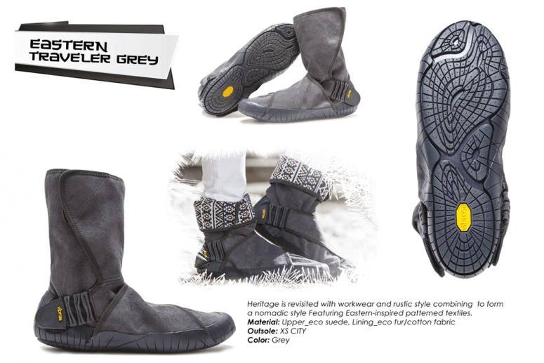 Furoshiki Boots Winter Eastern Traveler grau