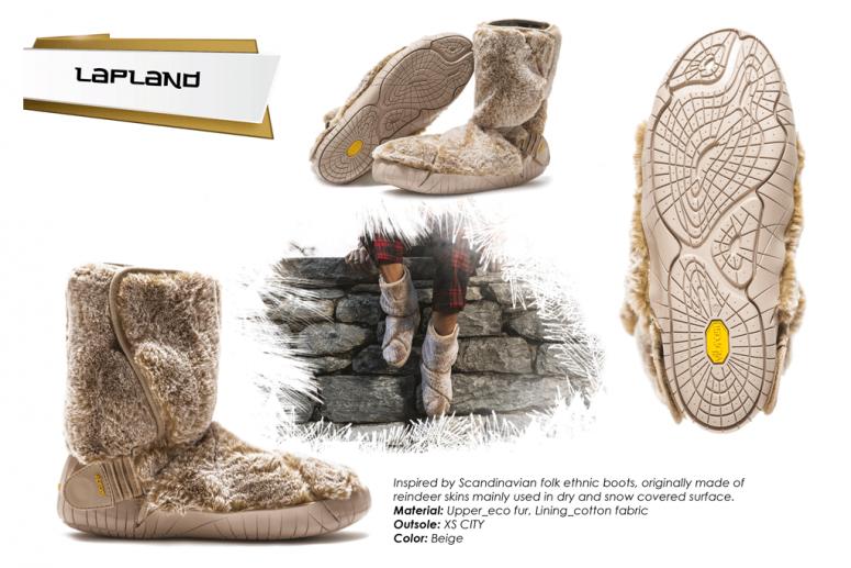 Furoshiki Boots Winter - Lapland - beige