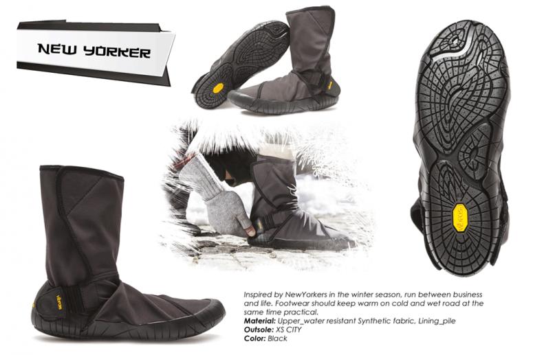 Furoshiki Boots Winter - New Yorker - black
