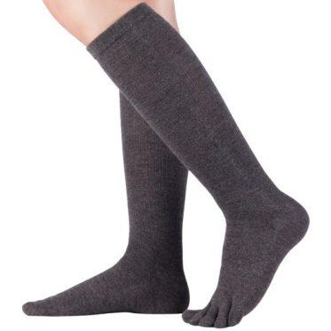 Zehensocken aus Merino und Baumwolle - langes Modell