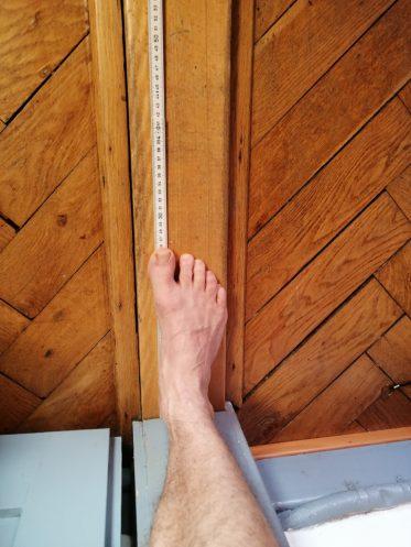 Fusslänge messen