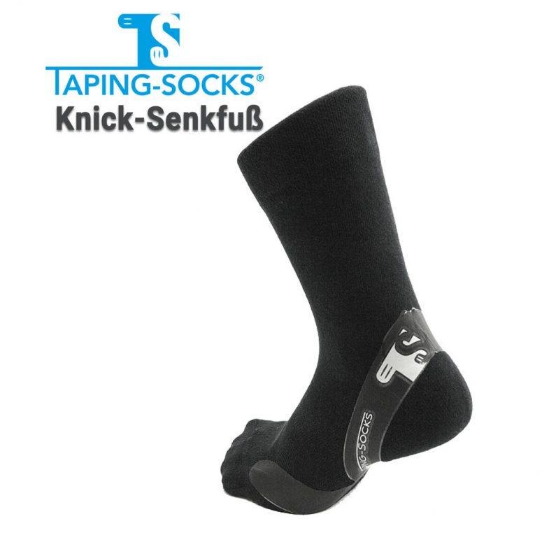 Taping-Socks Knick-Senkfuss schwarz