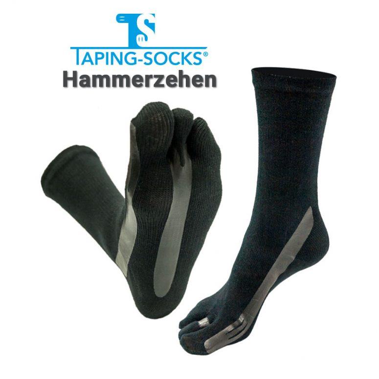 Taping Socks Hammerzehe schwarz